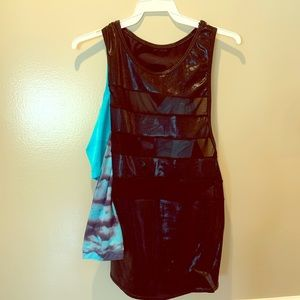 Curtain Call Costumes Pop Rock Funk Blue Dancewear